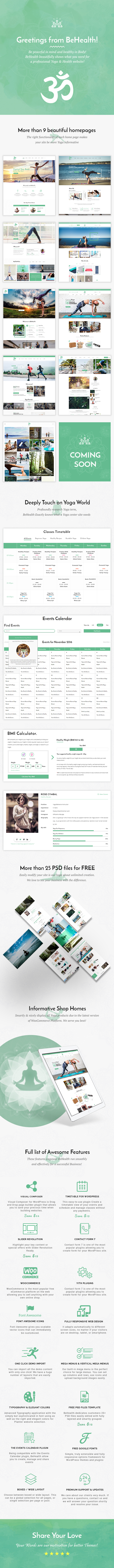 BeHealth - Multi-Purpose WordPress Theme for Yoga - Health - Beauty - Shop - 1